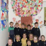 Junior Infants admiring their tree!